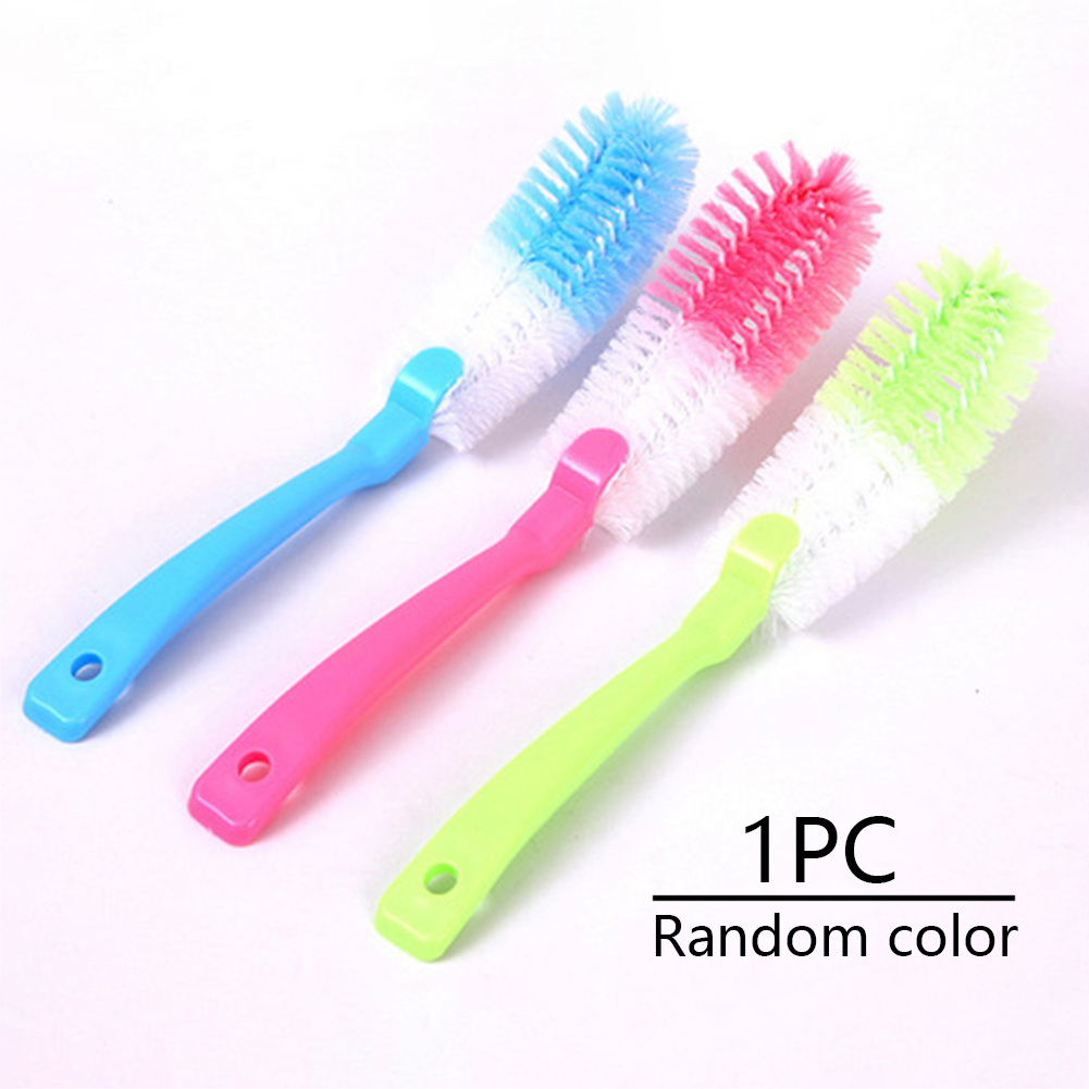 Casual Plastic Bottle Brush Tool Hanging Home Long Handle Cup Random Color Glass Baby Washing Multifunctional Kitchen Cleaning