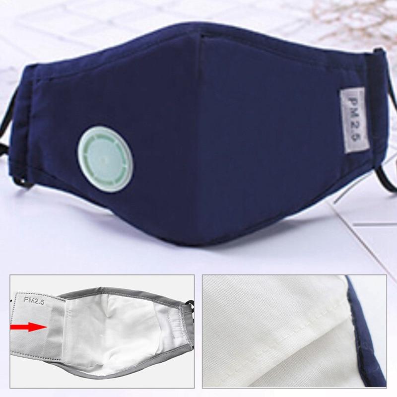 Anti máscara de poluição respirador de poeira lavável máscaras reusáveis algodão unisex boca muffle para alergia/viagem/ciclismo