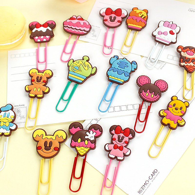 Strong-Willed 1x Kawaii Large Rilakkuma Rabbit Soft Pvc Head Paper Clip Bookmarks Marker Of Page Student Stationery School Office Supply Gift Office & School Supplies Labels, Indexes & Stamps