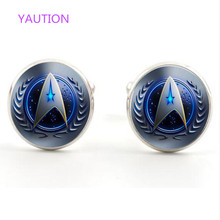 Star Trek Movie Steampunk team new mens silver cufflinks for weddings gift ,prom