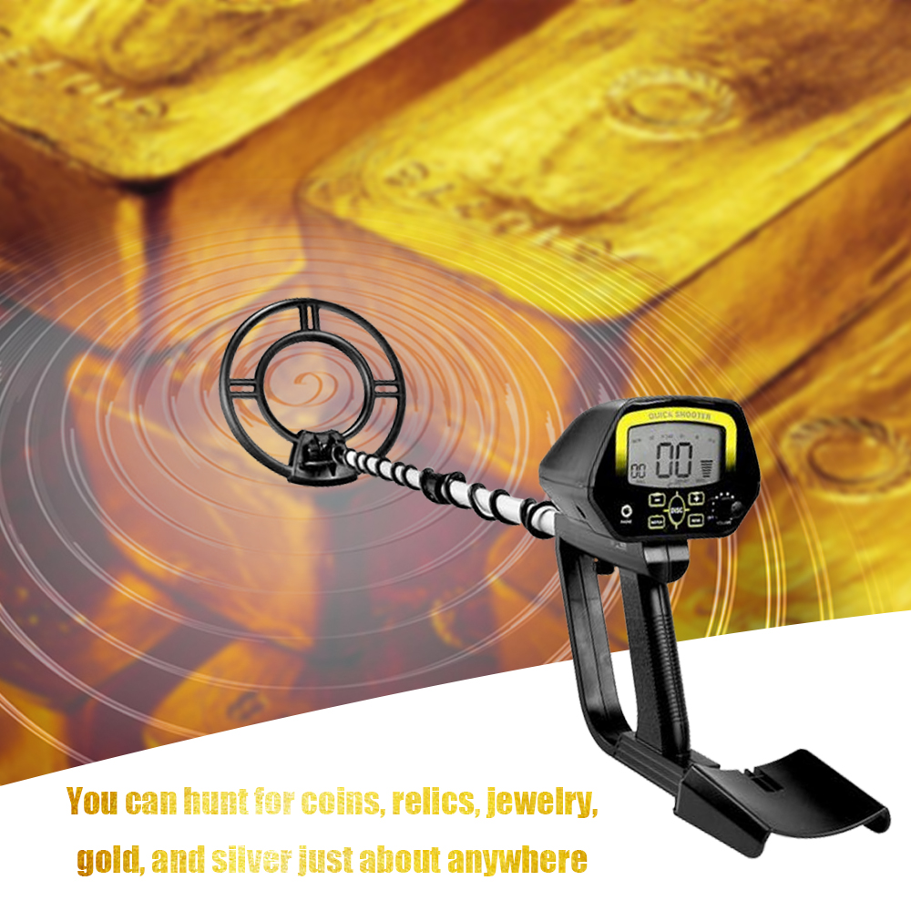 Portable Meatal Gold Detectors LCD Display High Sensitivity Treasure Hunter Underground Metal Detector