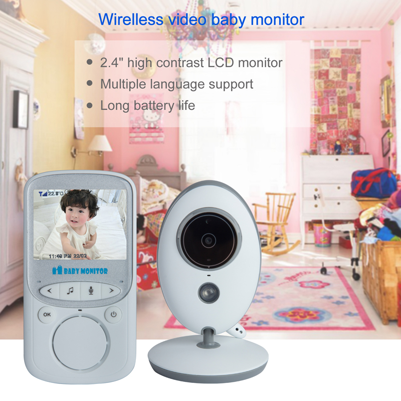 2.4 Inç Renkli LCD Kablosuz Dijital Ses Video Güvenlik Bebek Uyku - Bebek Güvenliği - Fotoğraf 4
