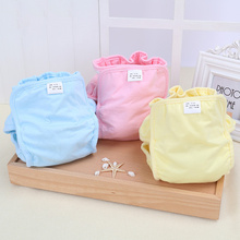 1pcs 2019 new Pure Cotton Baby Reusable Nappies Diaper Waterproof Washable Cloth Diapers Cover Boy Girl Underwear Nappy Changing [mumsbest] baby boy diaper cloth diapers lovely print pocket diapers baby nappies unisex washable nappy changing size adjusted
