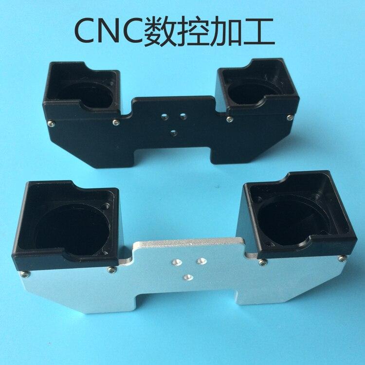 Funssor Ultimaker 2 pièces d'imprimante 3D chimère 2 en 2 sorties tête d'extrusion hotend flux de ventilateur double conduit de guidage