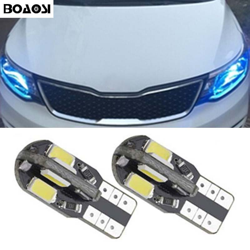 BOAOSI 2x Car T10 LED 5730smd Wedge Light Bulb W5W For Kia Rio 1 2 K2 Ceed K3 K5 Forte Sportage Cerato Carens Sorento soul
