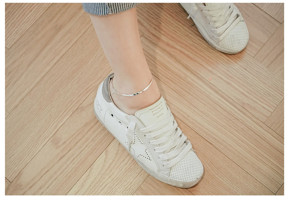 100% 925 Sterling Silver Fashion Ladies`Anklet Wholesale Female Anklets Jewelry Hot sell Women Summer Birthday Gift 05