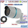 Mejor precio 1080 P mini cámara ip IMX323 Sensor de 2MP CCTV ip cámara de Visión Nocturna al aire libre, 3MP Lente de ALTA DEFINICIÓN, H.264, P2P, ONVIF 2.4 + soporte