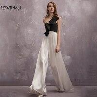 New Arrival Cap sleeve Black white Sexy Evening dress 2018 Robe de soiree abendkleider Cheap formal dress abiye Evening gown