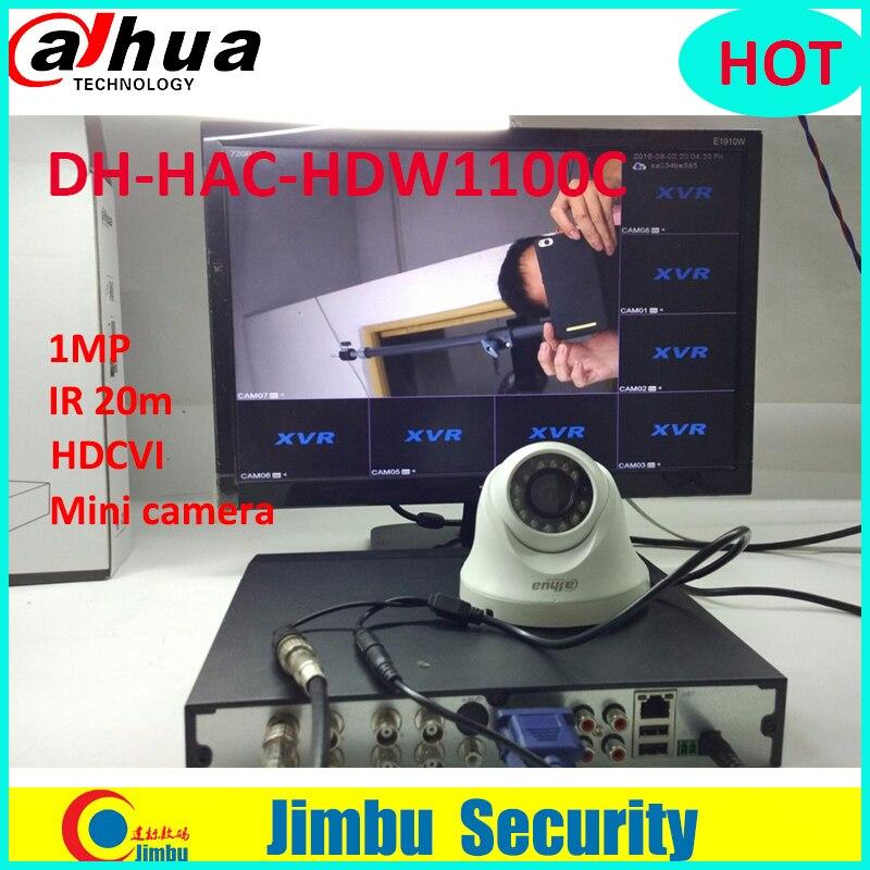 все цены на DAHUA HDCVI HAC-HDW1100C DOME mini Camera 1MP CMOS 720P lens6mm IR 20M IP66 security camera HDW1100C