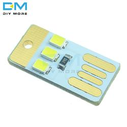 5 шт. Мини Ночь USB светодиодный брелок Портативный мощность белая доска карман карты светодиодная лампочка