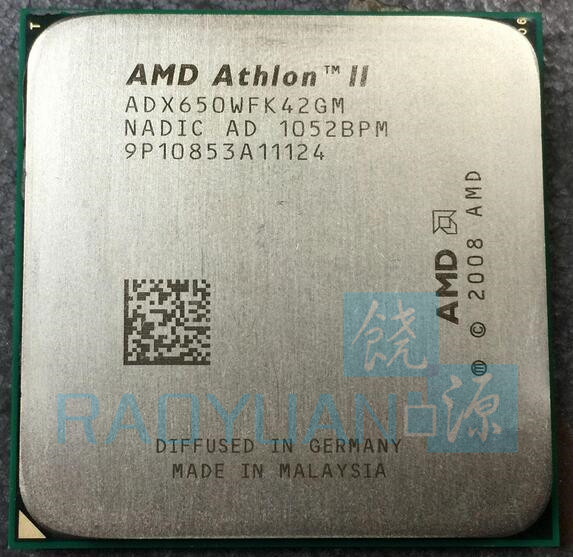 AMD Athlon II X4 650 3.2 GHz Duad-Core CPU Processeur X4-650 ADX650WFK42GM Socket AM3 Vente X4 630/X4 635/X4 640/X4 645