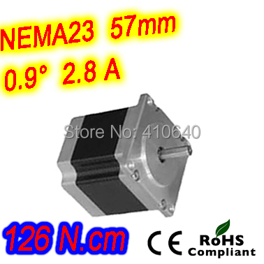 цена на 12 pieces per lot high resolution step motor 23HM22-2804S L56 mm Nema 23 with 0.9 deg 2.8 A 126N.cm and bipolar 4 lead wires