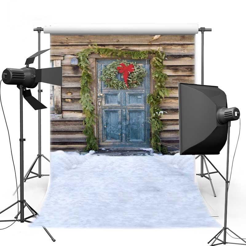 MEHOFOTO 8X12ft Christmas Theme Wood Door For Children Vinyl Photography Backdrops backgrounds for photo studio ST-294 200cm 300cm vinyl custom children theme digital photography backdrops prop gc 5075