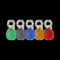CHENGKA 100PCS EM4305 T5577 tag Copy Rewritable Writable Rewrite keyfobs RFID Key Ring Card Proximity Token Badge Duplicate
