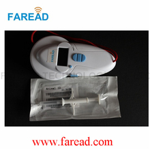 Free Shipping  x100pcs 1.4*8mm  134.2KHz  RFID Animal Injector + x1pc Pet  Scanner  134.2KHz  ISO Standar