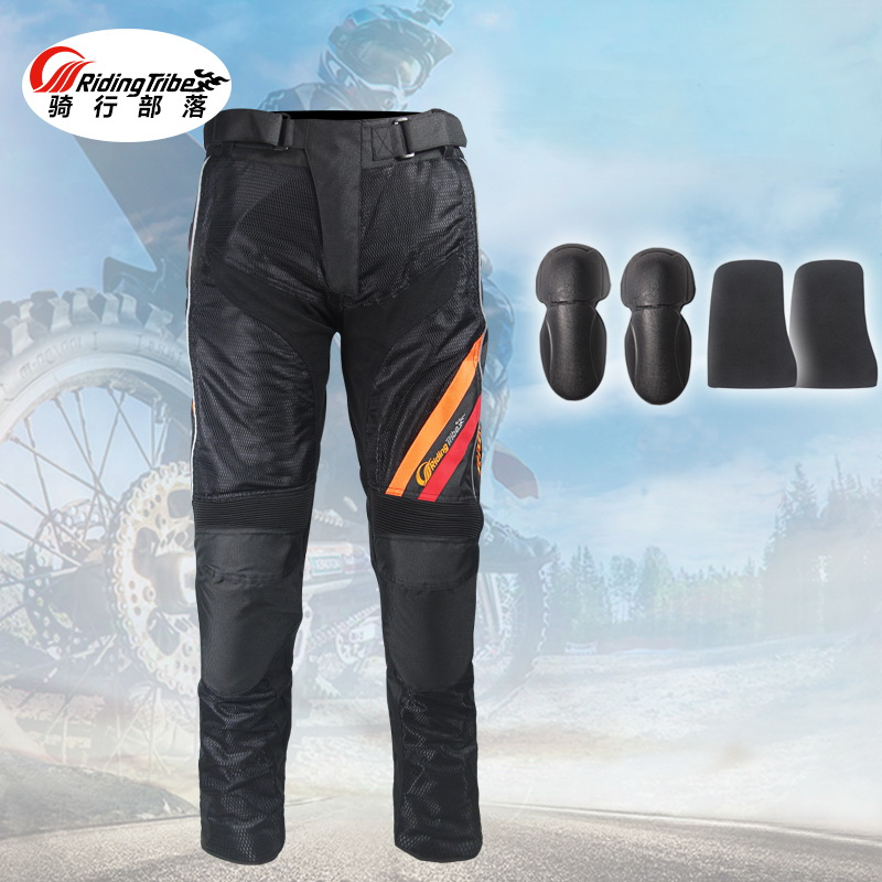 2017 NEW Riding Tribe motorcycle pants body armor,ventilate Mesh Fabric Moto motocross trousers & knee M L XL XXL XXXL 2017 newest summer mesh duhan motorcycle riding pant moto racing pants man motorbike trousers 600d oxford cloth size m l xl xxl