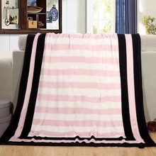 Hot Sale Spring/Autumn Secret Pink Coral Fleece Blankets For Beds Sofa Plane Travel Plaids Knitted Throw Blanket 130X150cm