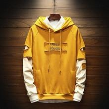 2019 New Style Men's Hoodies Korean Version Trend Pullover Hooded Sweatshirt Male Youth fashionable streetwear men off white