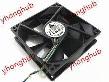 Detla electronics aub0912vh dc 12v 0.60a 90x90x25mm ventilador de refrigeração do servidor de 4 fios