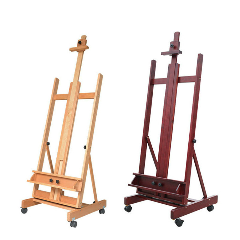 Floor type large wooden beech oil painting easel rack wooden real estate advertisement display wooden frame studio teaching boxFloor type large wooden beech oil painting easel rack wooden real estate advertisement display wooden frame studio teaching box