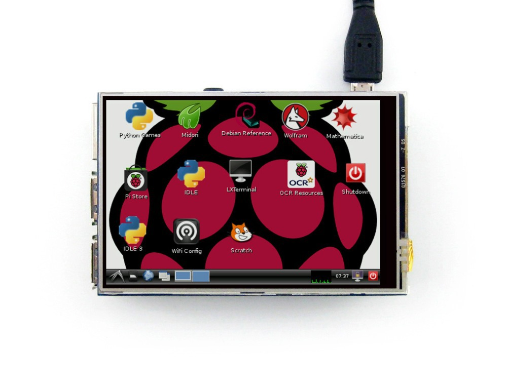 Prix pour Waveshare raspberry pi 3.5 pouce tft lcd écran tactile résistif Module d'affichage pour Toute Révision de Framboise Pi 3 B/2 B/B +/A +