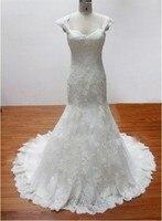 New Model Fashion Backless V Neck Sheath Vestido De Noiva Bride Dress Wedding Dress With Appliques
