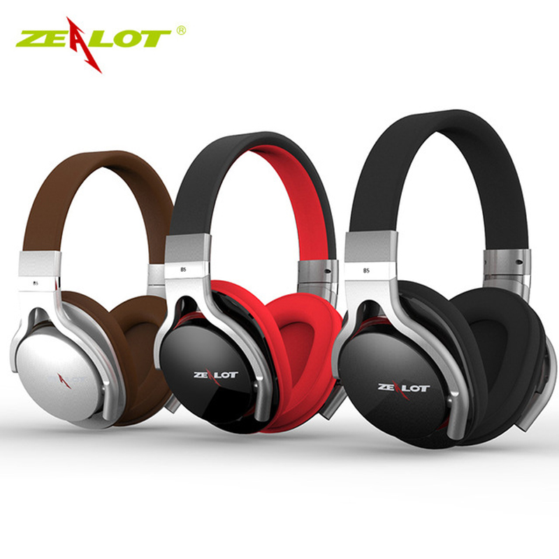 ZEALOT B5 Bluetooth 4.0 Stereo Earphone Headphones with Mic Wireless Headset Over Ear Headphone with Micro-SD Slot for phones PC 2017 scomas i7 mini bluetooth earbud wireless invisible headphones headset with mic stereo bluetooth earphone for iphone android