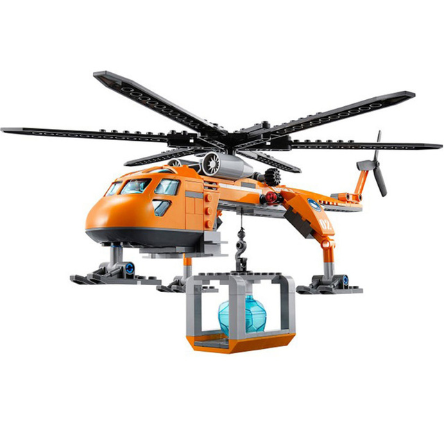 273pcs City Arctic Helicrane Helicopter Building Blocks Toys Compatible With Bricks For Children