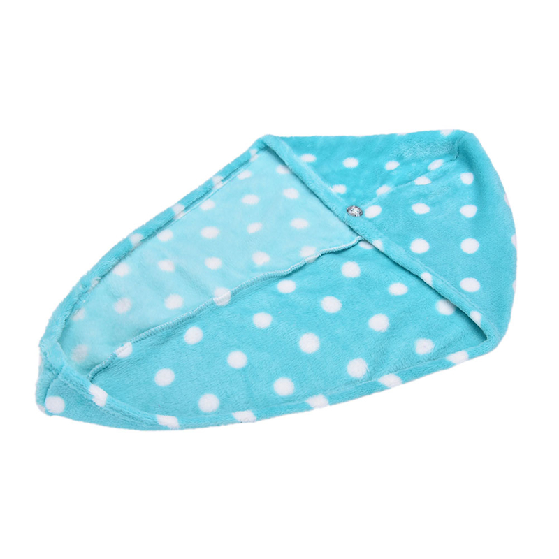 25x62 cm Lady's Bath Towel Cap With Super Absorption Material For Woman 3