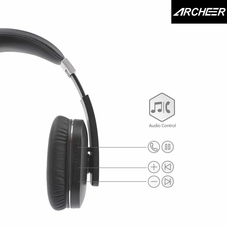 8e034a6faf9 ... ARCHEER AH07 bluetooth Foldable Headphone Wireless Stereo Headphone  With Mic Soft Ear Cups Adjustable Headset 100 ...
