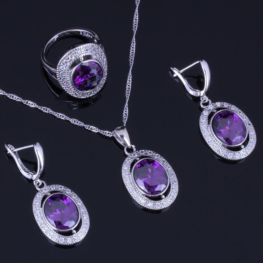 Glittering Oval Purple...