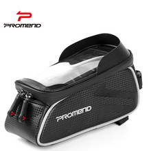 PROMEND All Waterproof Bicycle Bag Holder for Phone MTB Road Bike Bags Touch Screen Cycling Top Tube Bag 6.0 Inch Phone Case Bag cbr outdoor cycling bike touch screen top tube bag black grey