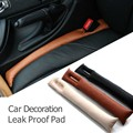 2pcs/lot Practical Car Accessory PU Leather Car Seat Gap Padding Seam Plug Car Decoration Aperture Leak Proof Pad Free Shipping