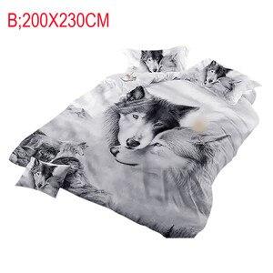 Image 3 - Wilk pary pościel dzieci 3D pościel fajne szary wilk zestaw poszewek 3 sztuk 3D malowanie kołdra pokrywa nie znikną słodkie marzenia
