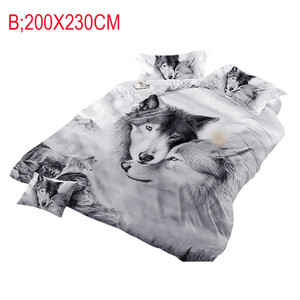 Image 3 - Wolf Couples Bedding Kids 3D Bedding Cool Grey Wolf Duvet Cover Set 3 Pcs 3D Painting Duvet Cover  Do not fade sweet dreams