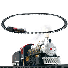 Classic Toys for children Electric Rail Car Railway Vehicles with Sound&Light&Smoking car Christmas