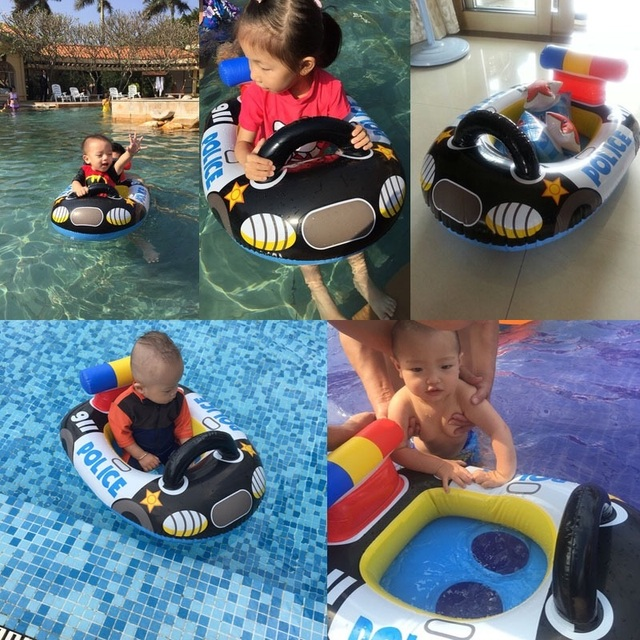 funny kids infant pool floats inflatable swimming pool floats for kids baby swim water toy inflatable.baby floats  Aircraft Car