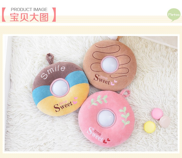 The best gift Metoo donut plush toy Nightlight luminous toy baby toy gift just light sleep comfort children friends (7)