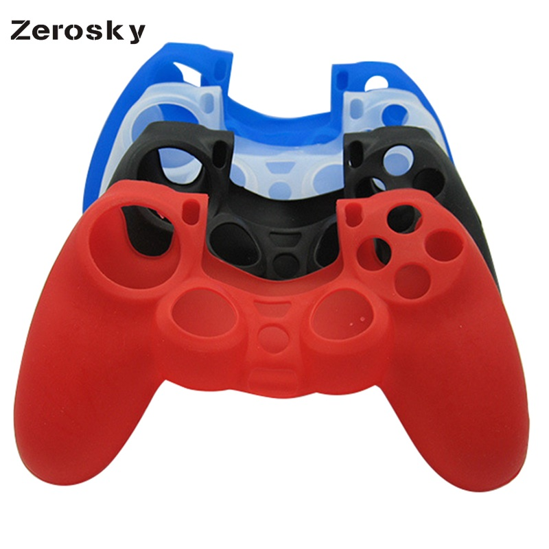 Zerosky Flexible Silicone Protective Skin for Sony PS4 Game Controller High Quality Game Controller Holder Case Protector