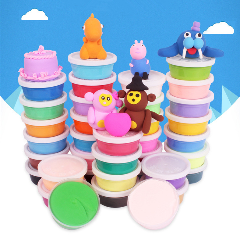 Modelling clay 36colors DIY Light clay Soft Polymer tools Magic Air Drying Intelligent Plasticine Slime clay Kids gift