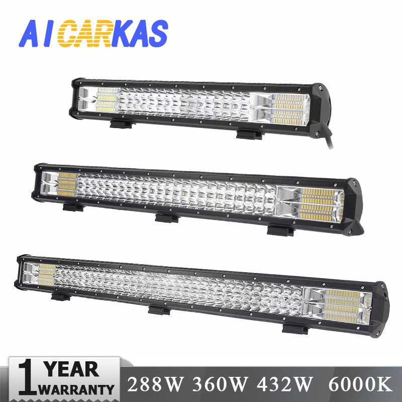 AICARKAS LED 4x4 Off Road Light Bar 12V 24V Off Road LED Car Light For LADA Niva SUV Jeep 6000K Auto LED Driving Fog Light Bar футболка print bar endless road