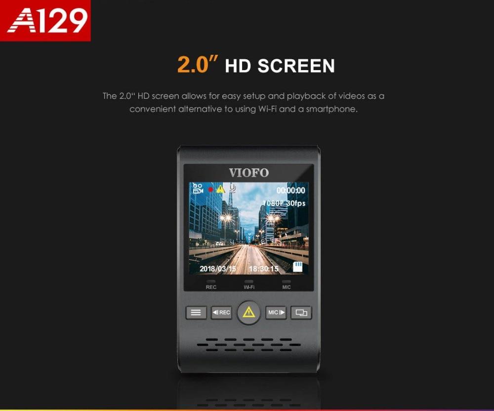 Передний видеорегистратор Оригинал «Viofo» A129, двухканальный, 5 ГГц, Wi-Fi, Full HD, 1080P, 30 кадров в секунду, IMX291, Starvis, Автомобильный видеорегистратор ...
