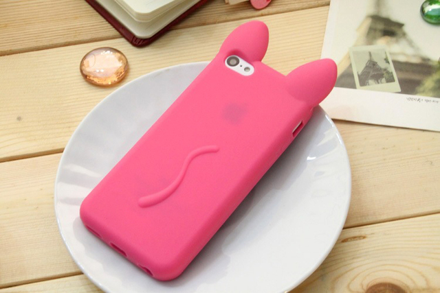 Cute Case with Cat Ears for iPhone