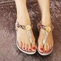 Женщины Сандалии 2017 горячие комфорт Горный Хрусталь летняя обувь Сандалии мода женская обувь высокого качества