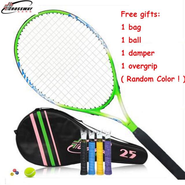 acad6ca14 Children s Tennis Rackets 25 Inches 1 Piece Padel With Bag String Overgrip  Tenis Raquete Raquetas De