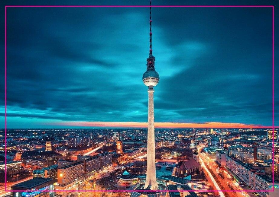 무료 배송, 독일 도시 베를린 타워 기념품 사진 냉장고 자석 5607 여행 선물 관광 명소 기념품