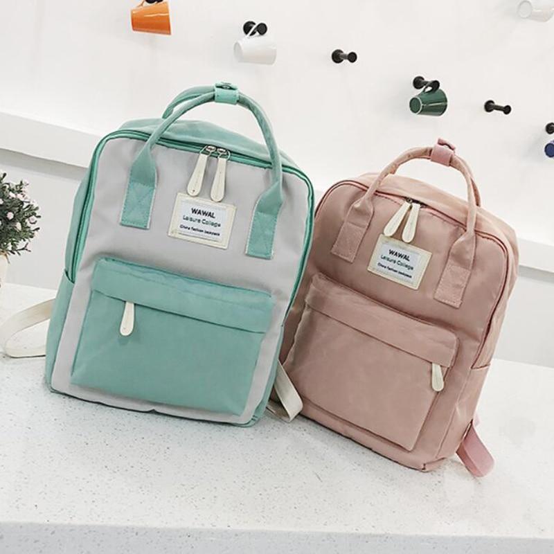 HTB1mjsmvborBKNjSZFjq6A SpXaW Yogodlns Campus Women Backpack School Bag for Teenagers College Canvas Female Bagpack 15inch Laptop Back Packs Bolsas Mochila