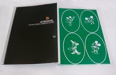 Temporary Airbrush tattoo Stencil book for children Template 14 PH-SB014 for glitter tattoo kit glitter stencil kits supplies