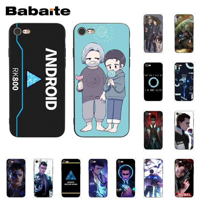 Babaite Detroit Se Tornar Humano Android RK800 Connor Kara Caixa Do Telefone para iphone 11 Pro 11Pro Max 8 7 6 6S mais X XS MAX 5 5S SE XR