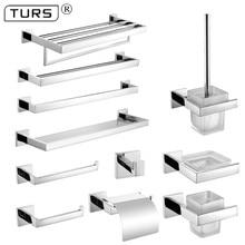 De acero inoxidable SUS 304 set de accesorios de baño de cromo pulido cepillo de dientes titular de papel de toalla Bar accesorios de baño